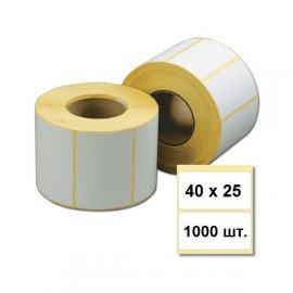 Термоэтикетка 40 х 25 (1000 шт.)
