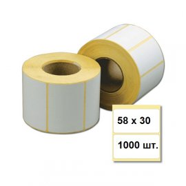 Термоэтикетка 58х30 (1000 шт.)