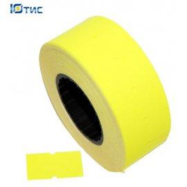 Этикет-лента 21х12 (желтая прямоугольная)