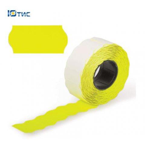 Этикет-лента 26х12 (желтая фигурная)
