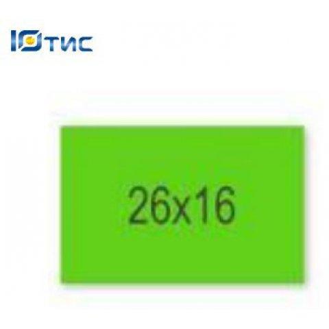 Этикет-лента 26 х 16 (зеленая прямоугольная)